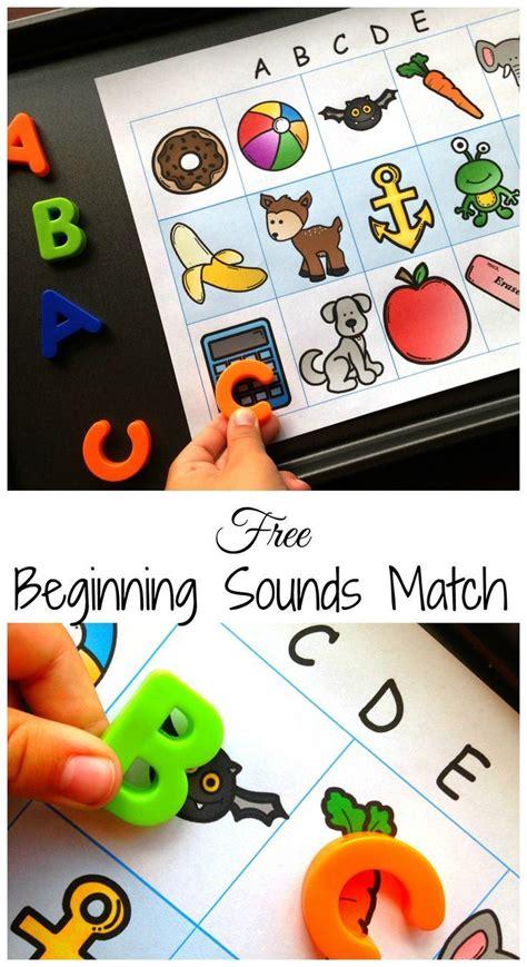 Easy And Free Beginning Letter Sound Match  Preschool Activities  Pinterest Kindergarten