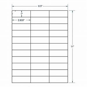 28quot x 1quot white address label 33 labels per sheet 250 With address label sheets