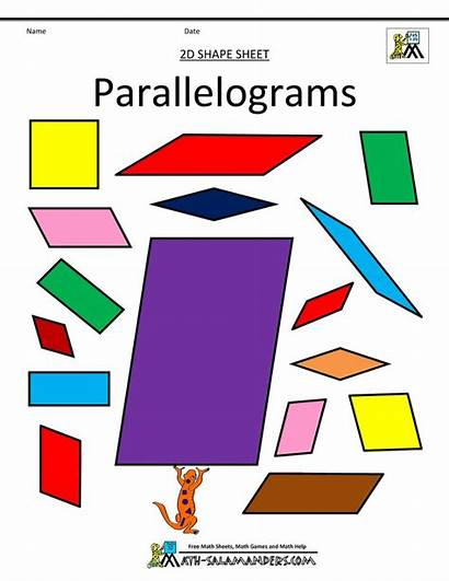 Math Parallelogram Parallelograms Shapes Printable Maths Fun