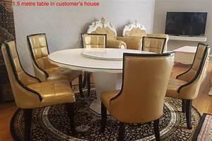Round, Marble, Dining, Dining, Table, With, U0026quot, Diamond, U0026quot, Buttom, Set, In, Sydney, Warehouse