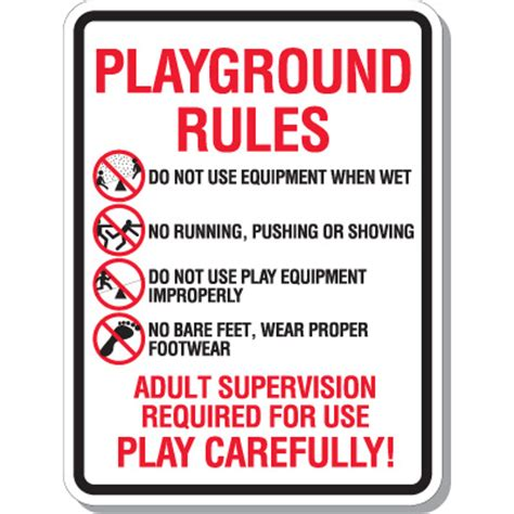 playground rules for preschoolers playground play carefully school playground signs 131