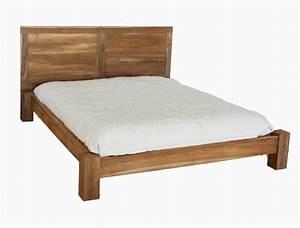 Letto matrimoniale con testata in legno massello di teak for Testata letto in legno