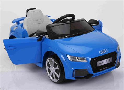Our favourite ferrari colours are among the blue ones. Kids Officially Licensed Audi TT RS Ride on Car Remote Control Door Open 12V Battery Blue | Toyzz