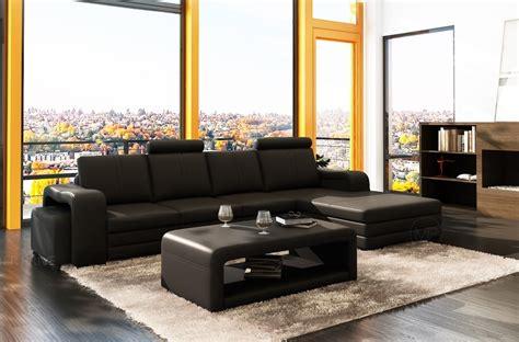 mobilier de canapé d angle canapé d 39 angle en cuir 5 6 places mobilier privé