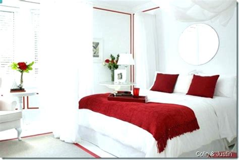 Red Black And White Bedroom Decor