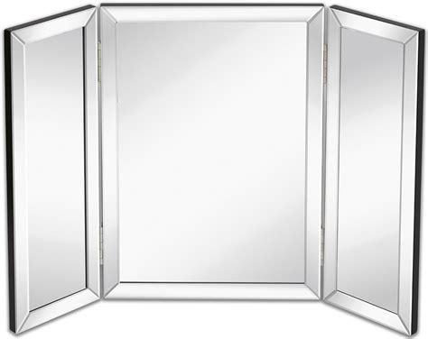Tri Fold Bathroom Wall Mirror by Hamilton Trifold Vanity Mirror Solid Backed Hinged