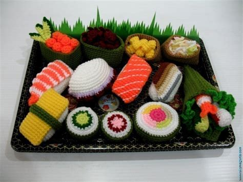 crochet cuisine crochet pattern sushi play food toys 00442