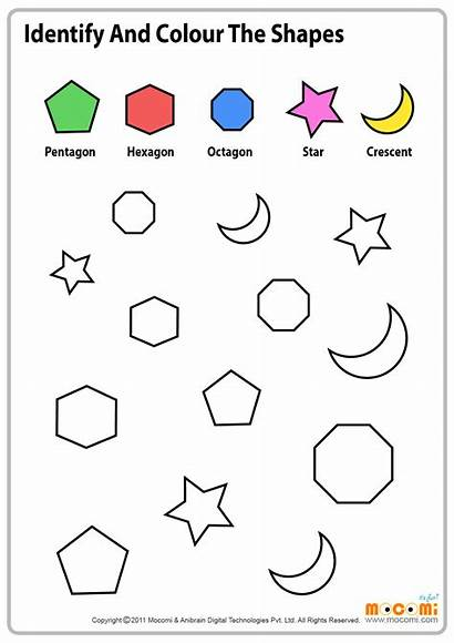 Worksheets Worksheet Shapes Shape Preschool Colour Activities