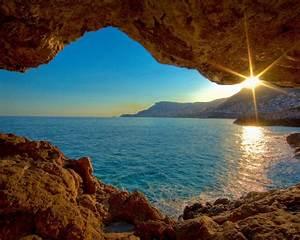 Sunset, Sea, Cave