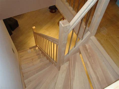 escaliers en fr 234 ne quart tournant sans contre marche avec inox