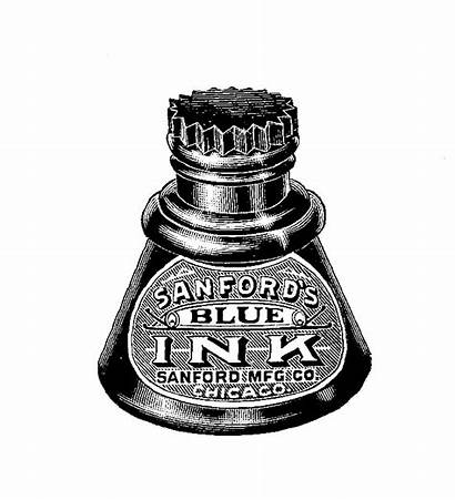 Ink Stamp Digital Writing Well Vintagey Charm