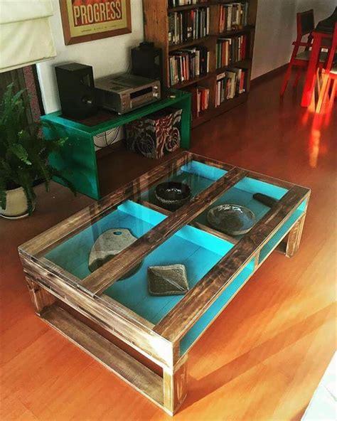 diy coffee table glass top 30 diy pallet ideas for your home Diy Coffee Table Glass Top