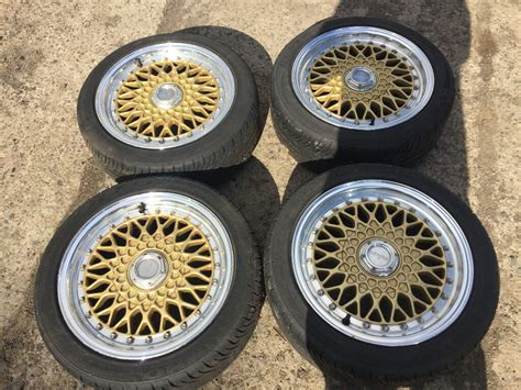 lenso bsx 4x100 lenso bsx bbs rs rep alloy wheels gold 15 quot 4x100 with tyres honda civic ek4 vti ej9 eg in