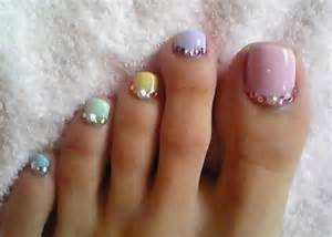 Toe nail art designs with rhinestones imgarcade
