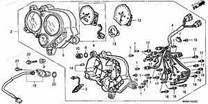 Honda Motorcycle 1998 Oem Parts Diagram For Speedometer