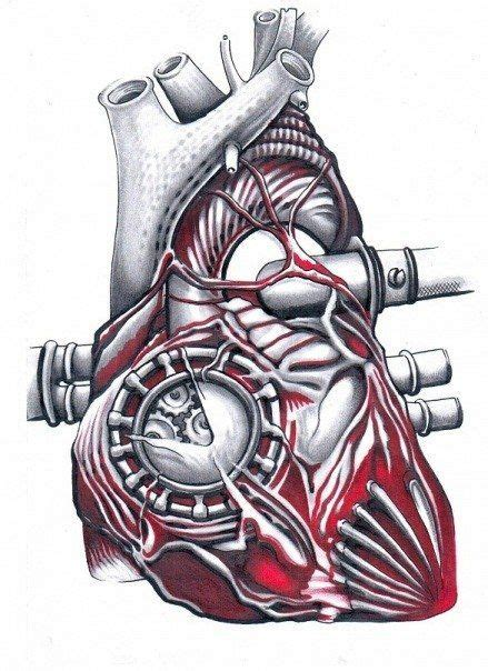 mechanical heart tattoo design tattoos heart tattoo