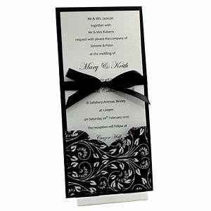 wedding invitations dl card with black floral glitter With dl pocketfold wedding invitations