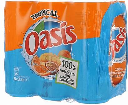 Oasis Cans Tropical Slim