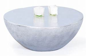 Table Basse Ronde Aluminium : table basse ronde metal argent pelas ~ Teatrodelosmanantiales.com Idées de Décoration
