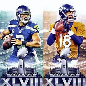 Seahawks vs Broncos in Super Bowl 48 on Feb 2, 2014. GO ...