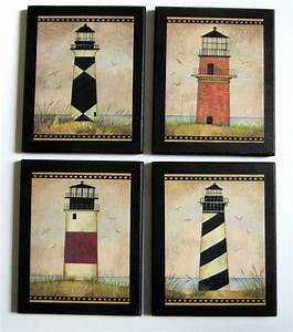Lighthouses pc wall decor plaques beach vintage style folk