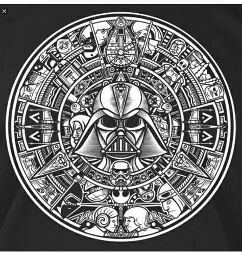 Star Wars Aztec Calendar Dxf File Free Download
