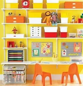 Etagere Chambre Ado : 20 id es rangement pour plus espace dans chambre d enfant ~ Teatrodelosmanantiales.com Idées de Décoration