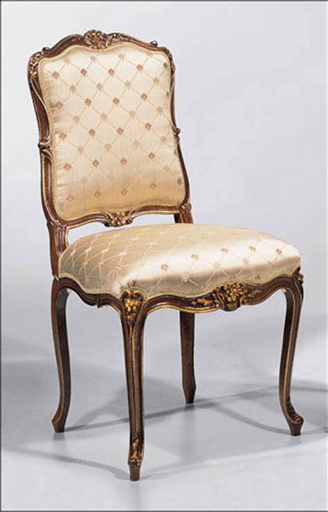 louis xv style carved beechwood side chair dining chairs