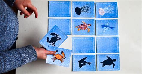 sea animal printable memory game adventure   box