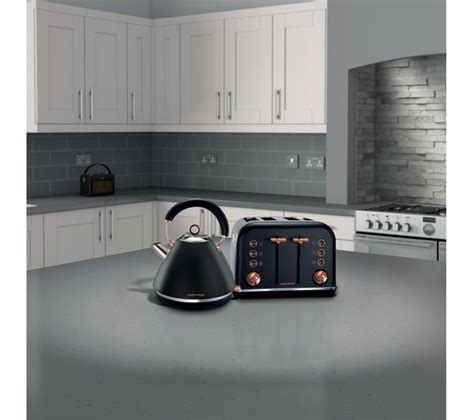buy morphy richards accents   slice toaster black rose gold  delivery currys