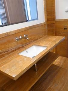 Plan De Travail Salle De Bain : salles de bain en marbre pierre et granit page 1 3 ~ Premium-room.com Idées de Décoration