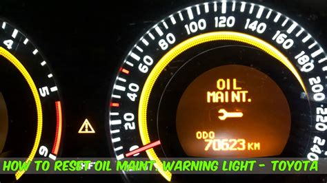 How To Reset The Maintenance Warning Light In A Toyota