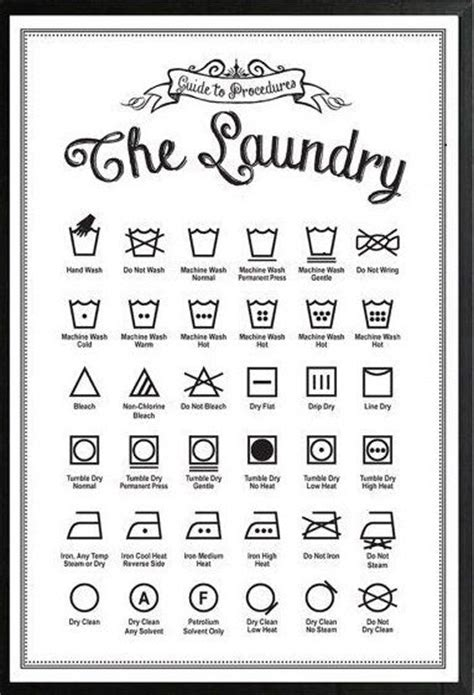 customizable laundry symbols print personalize guide