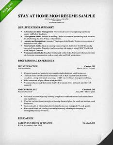 how to write a stay at home mom resume resume genius With homeschool mom resume