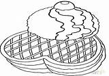 Coloring Waffle Pages Waffles Printable Getcolorings Bacon Eggs sketch template