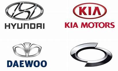 Korean Brands Logos Hyundai Cars Parts Manufacturer
