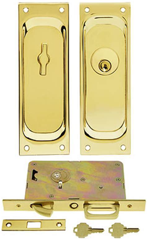 pocket door lock with key keyed pocket door mortise lock set with rectangular pulls