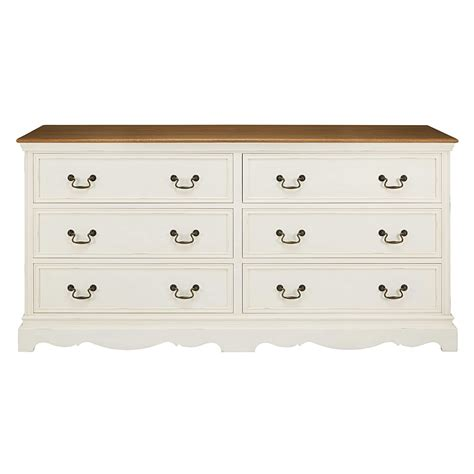 Commode 6 Tiroirs by Commode 6 Tiroirs Cr 232 Me Maisons Du Monde