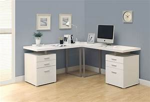 Home Office Outstanding White L Shaped Home Office Desks