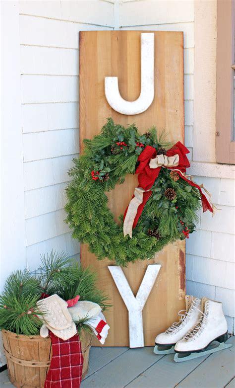 Outdoor Christmas Sign Ideas Landeelucom