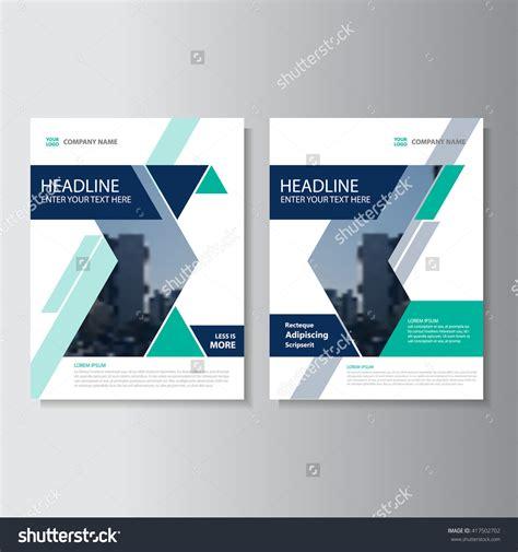 Blue And Green Vector Brochure Flyer Design Template Blue Green Vector Annual Report Leaflet Brochure Flyer