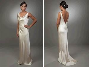 silk satin dresses on pinterest silk satin ivory silk With silk vintage wedding dresses