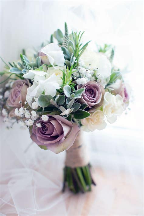 driftwood flowers mauve  white bridal bouquet