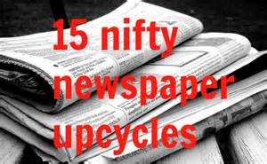 Upcycling Ideas Newspaper