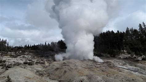 Steamboat Geyser by Yellowstone S Steamboat Geyser Erupts For 5th Time This