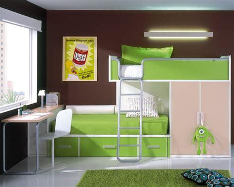 camas altas literas  dormitorios deco ideas