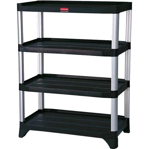 rubbermaid fgtbla   tier shelf