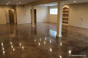 Cozy with concrete how to properly stain a concrete floor for How to finish concrete floors