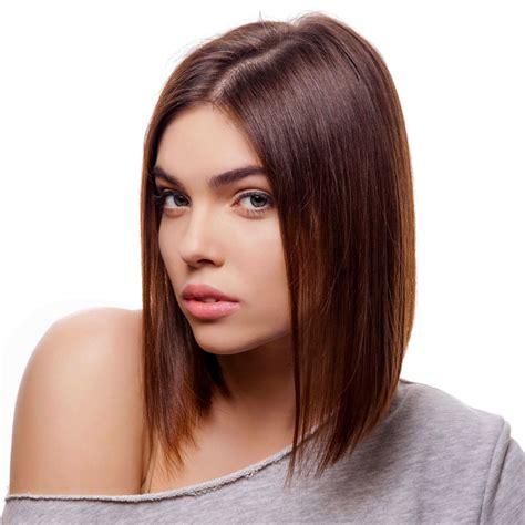 frisuren lange glatte haare glatter brauner a line bob hinten kurz vorne lang braune kurze und mittellange haare
