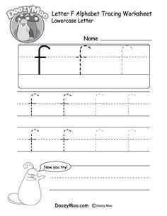 doozys alphabet tracing worksheets lowercase